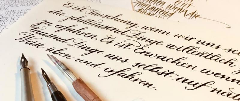 Kalligrafie Basics: Muttertagspecial
