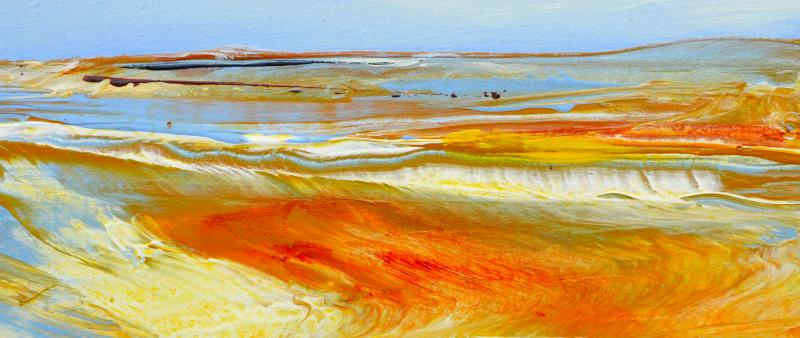 Abstrakte Landschaft in Acryl