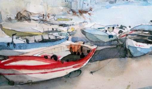 Maritime Szenen in Aquarell