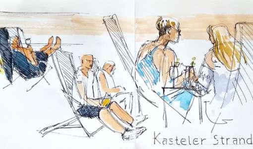 Portraits unterwegs einfach skizzieren und aquarellieren