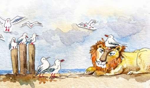 Mit Spaß zeichnen lernen - Möwen und Löwen