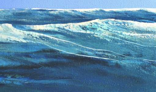 Wellen malen – mit experimentellen Techniken