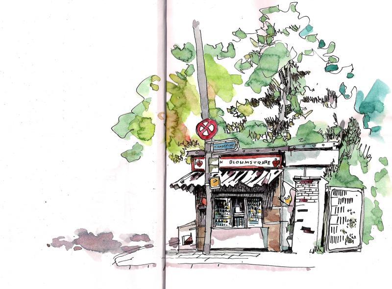Urban Sketching - im Winter