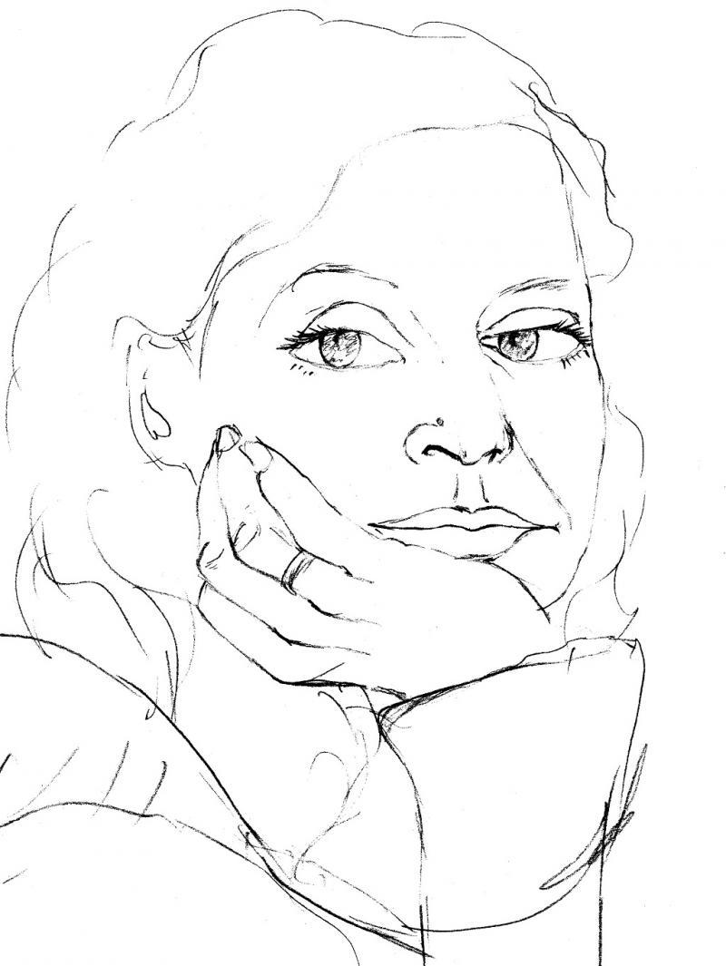 Portrait-Selbstportrait: Garantiert zeichnen lernen nach Betty Edwards