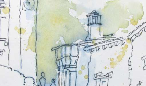 """Reiseskizzen und Urban Sketching mit """"Perspektive"""""""