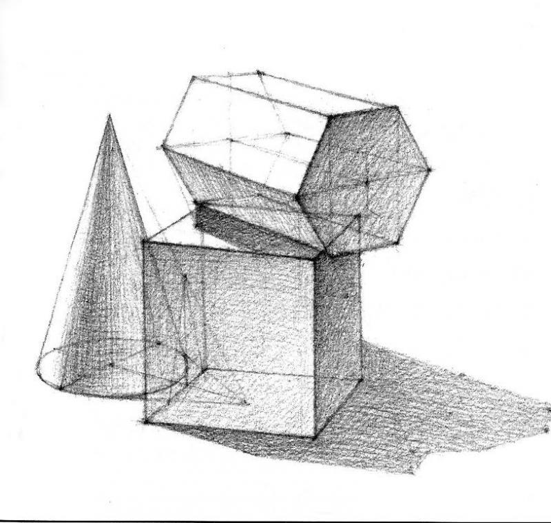 einf hrung in die welt des zeichnens geometrische formen boesner. Black Bedroom Furniture Sets. Home Design Ideas