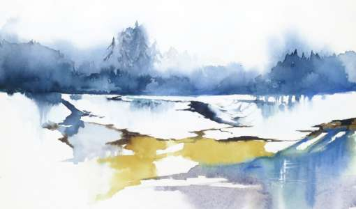 Landschaften im Aquarell: Winterliche Motive