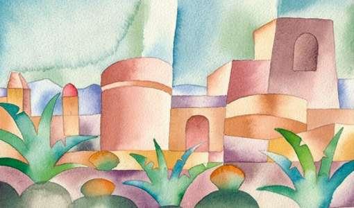 Landschaft im Licht - Farbverläufe im Aquarell
